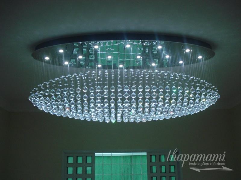 Instalação de Lustre Zeppelin Grande