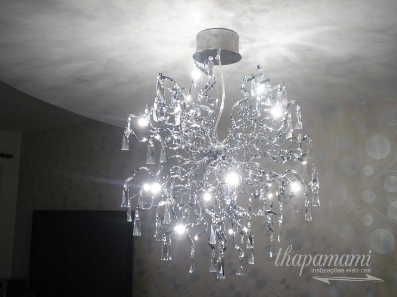 Instalação de Lustre LED